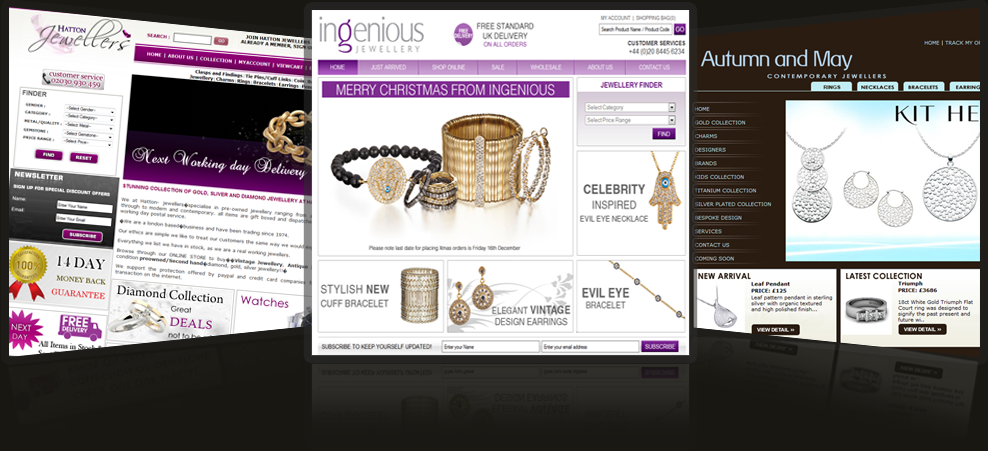 Stunning jewellery websites
